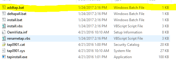Unable to find Tap-Win 32 adapter - Software - hms how